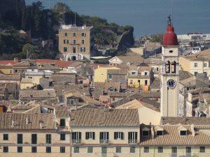 Kerkyra de hoofdstad van Corfu