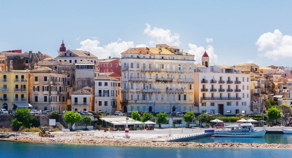 Corfu, capital town of Corfu island-min